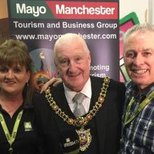Irish TV with Lord Mayor of Manchester picture by Mayo Manchester