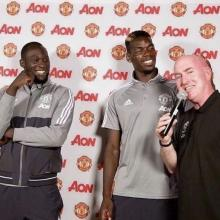 Alan Keegan with Paul Pogba from Manchester United Football Club